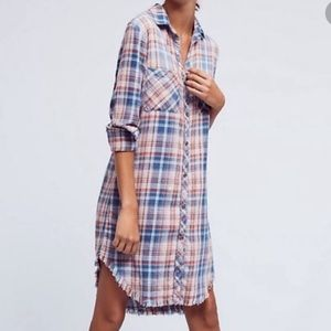 NEW Cloth & Stone plaid dress